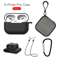 For Airpods Pro Charging Earphone Case With 4 Pcs Accessories Tpu Silicone