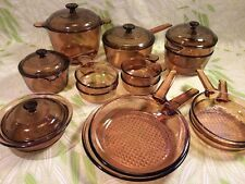 19 Piece AMBER VISIONS Corning Cookware 3.5 QUART DUTCH OVEN LARGE VARIETY