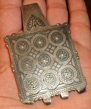 92mm Pendentif Argent Ancien Maroc Nice Antique Silver Pendant Necklace Morocco