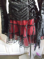 Black And Red Double Layer Tutu skirt.fancy dress/party. size small. new