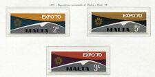 37465) Malte 1970 MNH Expo Osaka 3v