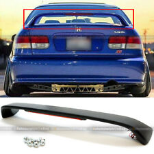 For 96-00 Honda Civic 2DR Primered Black Trunk Spoiler Wing LED Brake Light Lamp