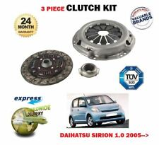 FOR DAIHATSU SIRION 1.0 DVVT 1KRFE  3/2005--> NEW 3 PIECE CLUTCH KIT COMPLETE