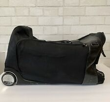 "TUMI Black Ballistic Nylon 19"" Rolling Wheeled Upright Duffle Bag Black"