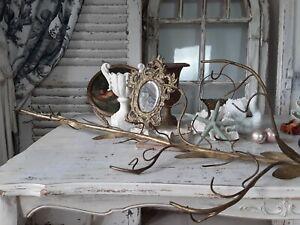 Ast eines großen antiken ALTARLEUCHTERS  chandelier antique Frankreich shabby