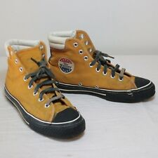 "Converse ""The Winner"" Shoes Orange Canvas Made USA 70s Sears Mens Est sz 9 ~ 10"