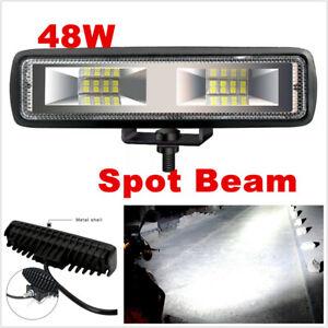 "6""INCH 48W Waterproof Led Work Light Bar Spot Beam Driving Offroad 4WD Truck"