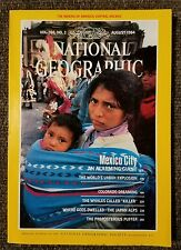 National Geographic magazine August 1984 With Map of Central Rockies, Mexico cit