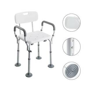 Portable Bath Chair Shower Stool Seat Bench Bathroom Aluminum 5 Height