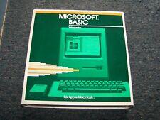 Vintage Original Macintosh Microsoft Basic 1.0 Software on 400k P/N 014-096-003