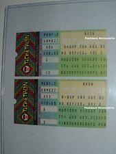 2 Rush 1982 Concert Ticket Stub Lot Madison Square Garden Nyc Rare Signals Tour