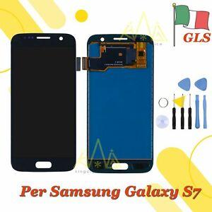Display LCD + Touch Screen Per Samsung Galaxy S7 SM-G930F Nero Schermo Vetro 24H