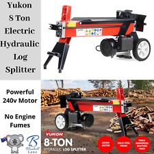 Electric 8 Ton Hydraulic Log Splitter Firewood Block Cutter Axe Wood Timber 240V
