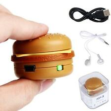USB Mini Jouet Hamburger MP3 Lecteur Support 32GB Micro SD carte de TF Avec