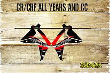 HONDA CR CRF 85 125 150 250 450 RAD SCOOPS GRAPHICS-STICKERS-DECALS-MX-BLACK
