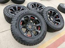"20"" 20x9 Ballistic Jester Ford F-150 black wheels rims 35"" A/T tires 6x135 +12"