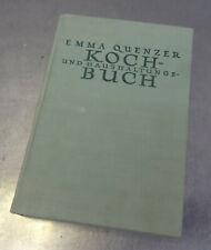 Antikes Kochbuch + Haushaltsbuch 1933 Emma Quenzer 560 Seiten