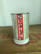 Scarce supreme Premium Beer flat top can:  Supreme Brewing co, Chicago, IL