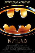 BATMAN (1989) ORIGINAL MOVIE POSTER  -  ROLLED  -  GLOSSY UV COATED  -  RARE!