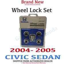 2004- 2005 Honda CIVIC SEDAN New Genuine Wheel Lock Set