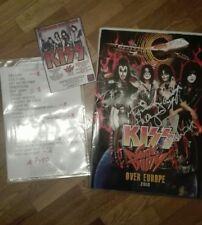 KISS  ORIGINALSIGNED TOUR BOOK +SET LIST