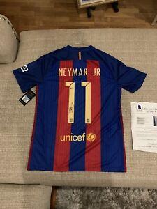 Neymar Jr. Autographed Signed Jersey Nike Barcelona Beckett LOA & Hologram