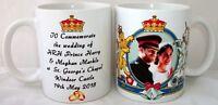 Prince Harry & Meghan Markle Royal Wedding Dress Coat Arms Coffee Tea 11 oz Mug