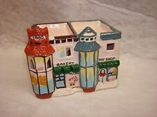 Bakery And Toy Shop Combined Earthenware Snow House Lighted Village Building