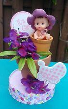 FLOWER POT GIRL BABY SHOWER CAKE TOPPER BIRTHDAYCENTERPIECE FIGURINE DECORATION