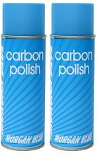 2 x MORGAN BLUE CARBON SPECIFIC BIKE CYCLE POLISH 400ml AEROSOL Twin Pack Glossy