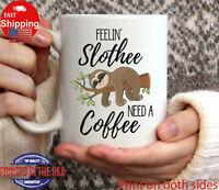 Slothee Coffee Mug Funny Sloth Mug Sloth Lover Gifts For Her Funny Gift Cup