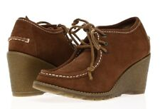 2a7cc0f0777 SPERRY TOP-SIDER Womens  Stella Keel  Tan Suede Wedge Ankle Booties Sz 5.5