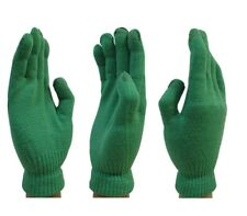 Touch Screen Magic Winter Gloves Mens Ladies For Smartphone Tablet - Green