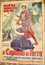 MANIFESTO ORIGINALE IL CAPITANO DI FERRO 63 BARBARA STEELE SERGIO GRIECO