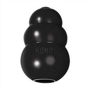 KONG Extreme Black Rubber Treat Dispenser Pet Dog Puppy Toy Power Chewers Medium
