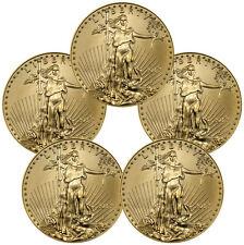 2017 $5 1/10 oz. American Gold Eagle - Lot of 5 Coins SKU44741