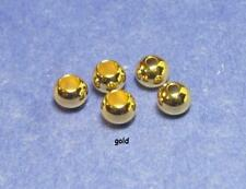 25 fly tying brass beads/>GOLD/>25 beads/>6 sizes available/>COMBINE SHIPPING