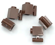 Lego 5 New Reddish Brown Bricks Modified 1 x 1 with Handle Pieces