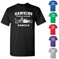 Hawkins Middle School A.V. Club Tees Stranger Things Merch Mens T-Shirts