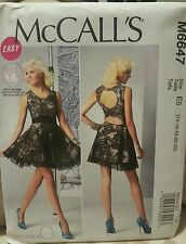 M6447 McCall's Women's Sewing Patterns For Open Back Dress For Sizes 14-22