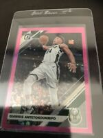 Donruss Optic Pink Hyper Prizm Giannis Antetokounmpo Base MVP Bucks 2020