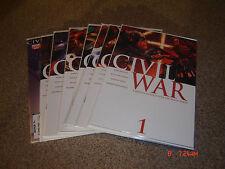 CIVIL WAR THE COMPLETE SERIES 1-7  PLUS THE INITIATIVE #1