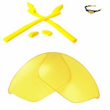 WL Yellow Replacement Lenses and Yellow Rubber Kit For Oakley Half Jacket 2.0