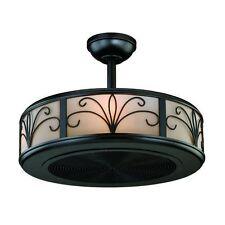"""21"""" 4 Light New Bronze Ceiling Fan + Remote! Indoor Ceiling Fixture Chandelier"""