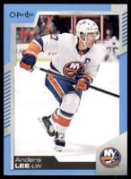 2020-21 UD O-Pee-Chee Blue Border #288 Anders Lee - New York Islanders