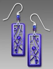 Adajio Earrings Blue and Violet Two-Part Twigs and Bubbles Handmade in USA 7676