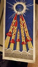 Sun Silver Pickups Poster Viva Voce Rocket Blastoff North American Tour 2006 The