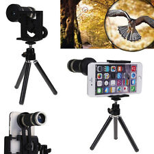 8x Zoom Optical Lens Telescope Camera  Lens + Holder for Mobile Cell Phone