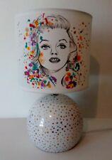 LAMPE CHEVET THEME Marilyn Monroe PEINT MAIN