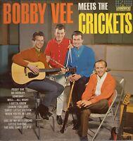 Bobby Vee Vinyl LP Liberty Records 1962, LRP-3228 (Mono), Meets the Crickets~VG